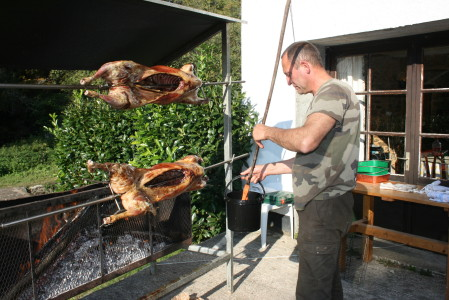 Fresh Lamb barbecued by our local French Farmer.email :giraudier60@gmail.com for more information